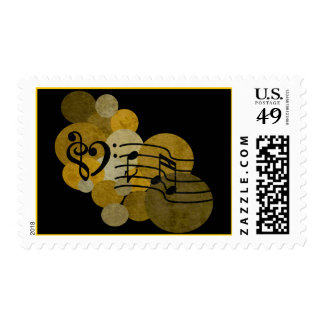 Music notes and polka dots – gold stamps