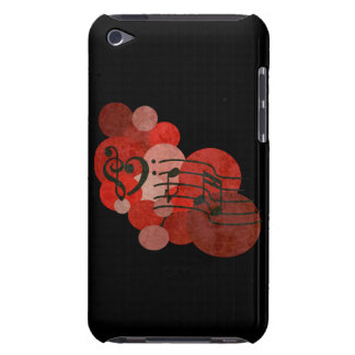 Music notes and polka dots (red) ipod case