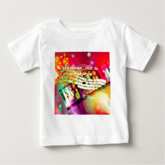Music notes and quote infant t-shirt