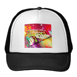 Music notes and quote trucker hat