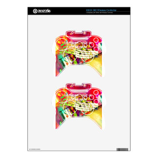 Music notes and quote xbox 360 controller decal