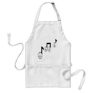 music notes adult apron