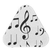Music Notes B&W Portable Speakers