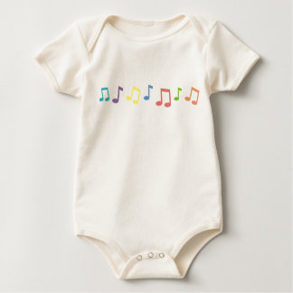 Music Notes Baby Bodysuit