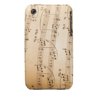 Music Notes Background iPhone 3 Case-Mate Cases