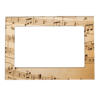Music Notes Background Picture Frame Magnet