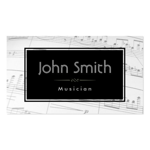 music notes background musician business card zazzle