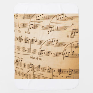 Music Notes Background Receiving Blanket