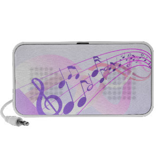 Music Notes Background iPod Speaker