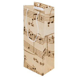 Music Notes Background Wine Gift Bag