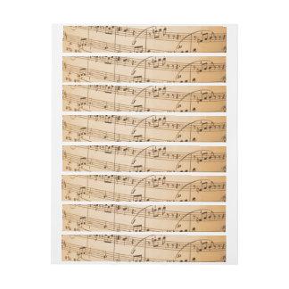 Music Notes Background Wrap Around Address Label