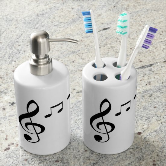 """Music Notes"" Bath Set"