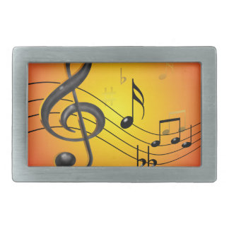 Music Notes Belt Buckle