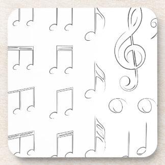 Music Notes Beverage Coaster
