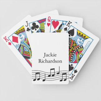 Music Notes Bicycle Playing Cards