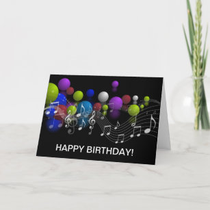 Music Notes Birthday Greeting Card