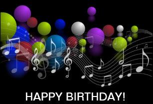 Music Notes Birthday Greeting Card