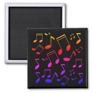 Music notes black magnet