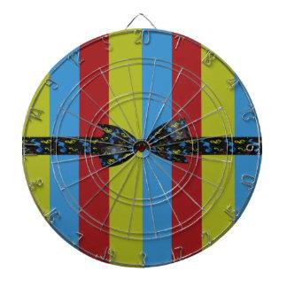 Music Notes Bow & Ribbon Colorful Stripes Dart Board