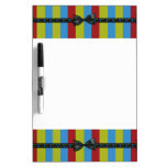 Music Notes Bow & Ribbon Colorful Stripes Dry-Erase Board