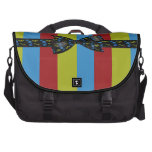 Music Notes Bow & Ribbon Colorful Stripes Laptop Bags