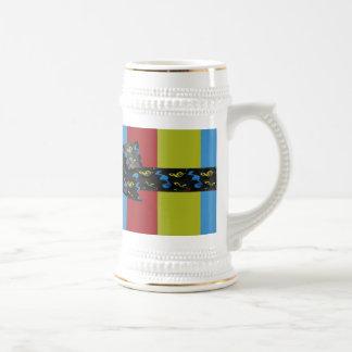 Music Notes Bow & Ribbon Colorful Stripes Mugs