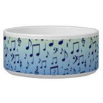 Music notes bowl
