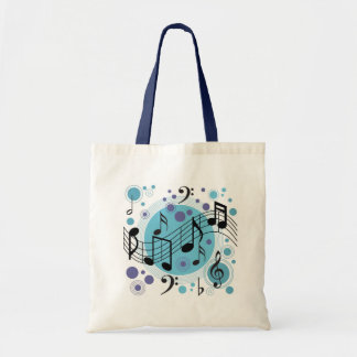 Music Notes Budget Tote Bag