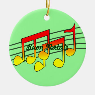 music notes Buon Natale Christmas Ornament