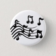 Music Notes Button at Zazzle