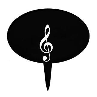 music notes cake picks