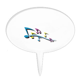MUSIC NOTES CAKE TOPPERS