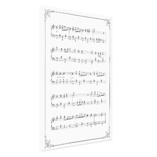 Music Notes Gallery Wrapped Canvas