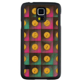 Music notes carved cherry galaxy s5 case