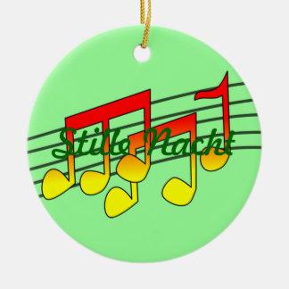 music notes ceramic ornament