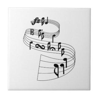 Music Notes Ceramic Tile