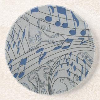 MUSIC NOTES-COASTER-BLUE COASTER