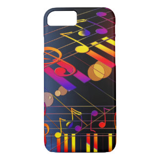 Music notes colorful illustration iPhone 7 case