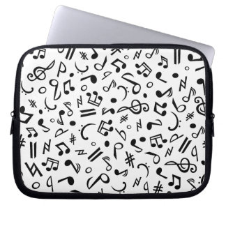 music notes computer sleeve