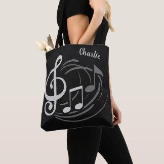 Music Notes custom name bags