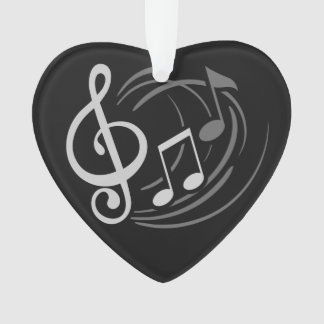 Music Notes custom text ornament