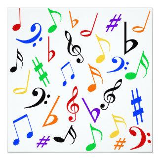 Music Notes Customizable Invitation - Multi