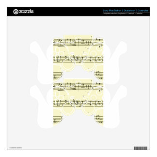 Music notes decal for PS3 controller