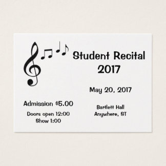 Music Notes Design-Your-Own Tickets