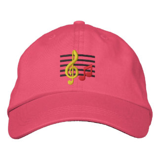 Music Notes Embroidered Baseball Hat