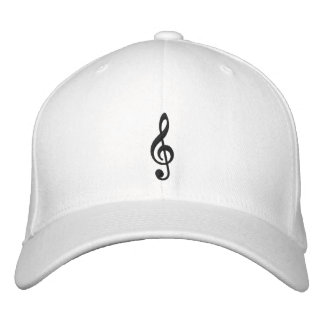 Music Notes Embroidered Cap