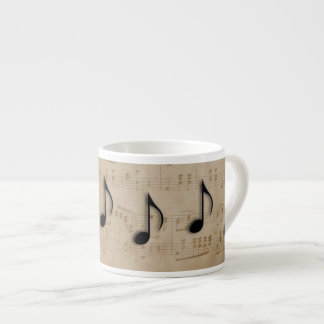 Music Notes Espresso Cup