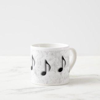 Music Notes Espresso Mug