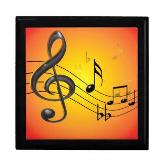 Music Notes giftbox Jewelry Box