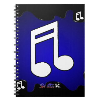 MUSIC NOTES  GIFTS CUSTOMIZABLE PRODUCTS SPIRAL NOTE BOOK